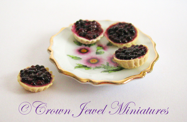 Crown Jewel Miniatures Blueberry Tarts