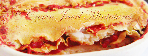 Crown Jewel Miniatures Lasagne