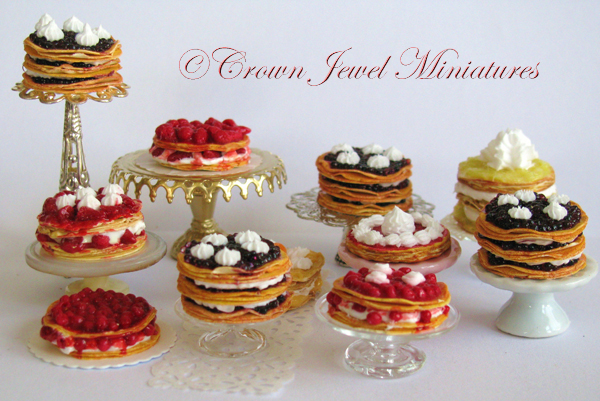 Crown Jewel Miniatures Puff Pastry Cakes