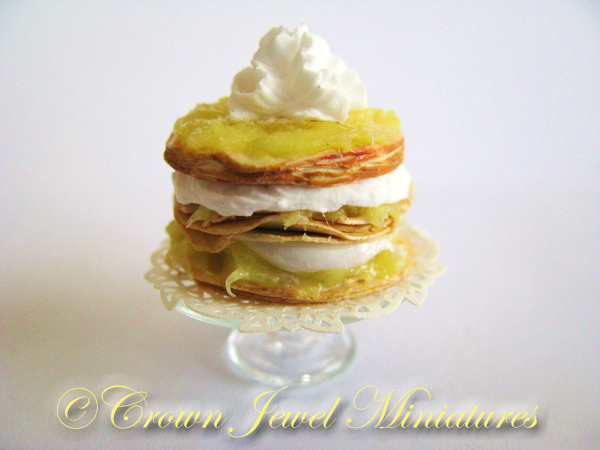 Crown Jewel Miniatures Puff Pastry Cake