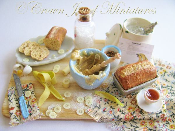 Crown Jewel Miniatures Banana Bread