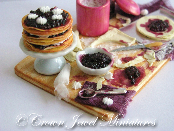 Crown Jewel Miniatures Berry Puff Pastry Cake
