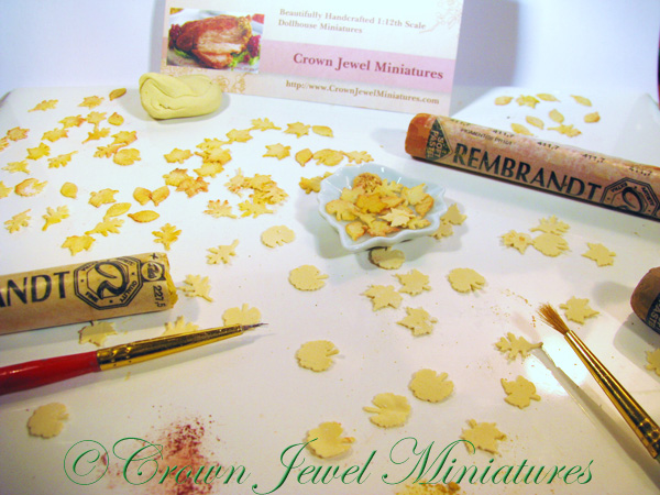 Crown Jewel Miniatures Autumn Leaf Cookies