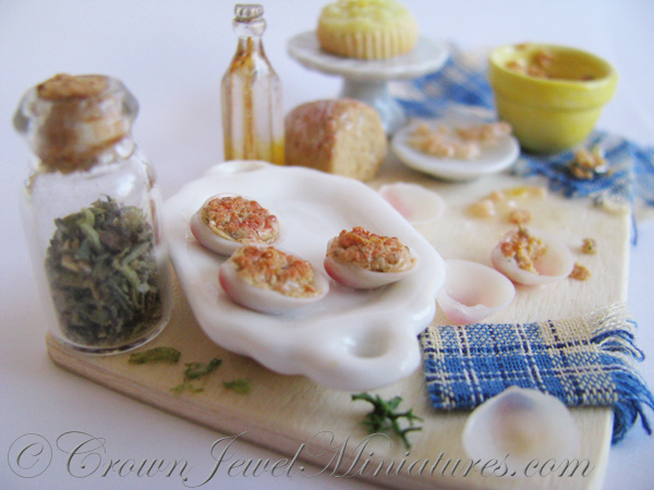 Crown Jewel Miniatures Stuffed Clams