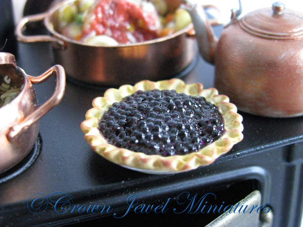 Crown Jewel Miniatures Blueberry Pie