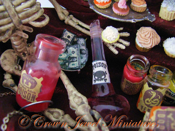 Halloween Potion Bottles by Crown Jewel Miniatures