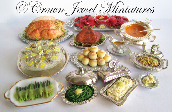 Crown Jewel Miniatures Gilded Age Food