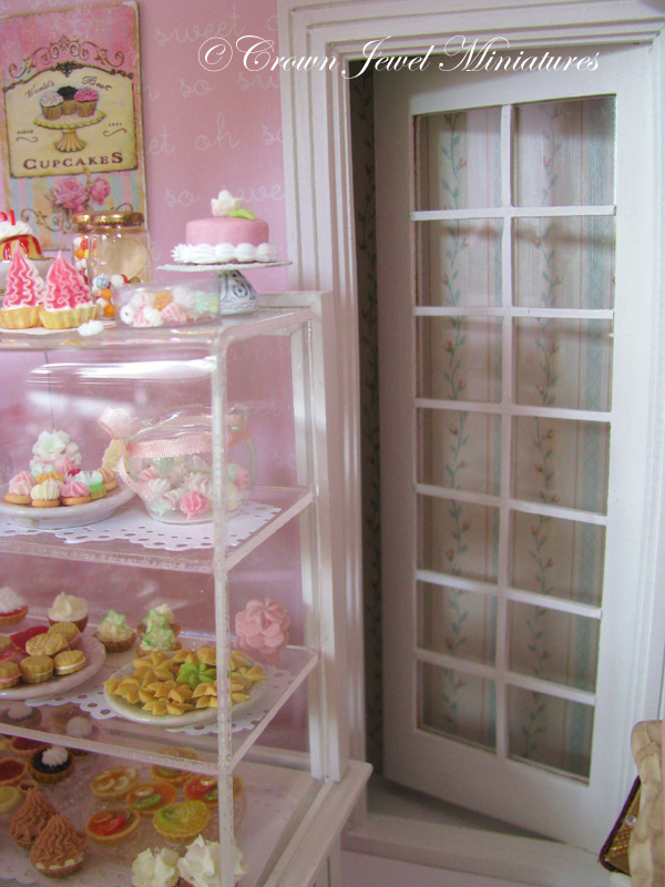Crown Jewel Miniatures Bakery Door