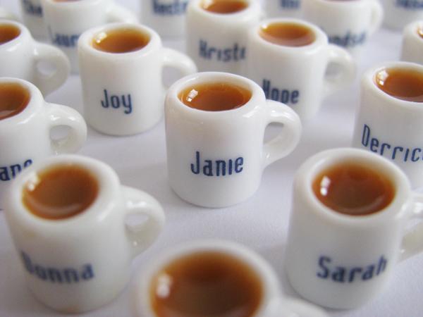 Blue Font Mugs